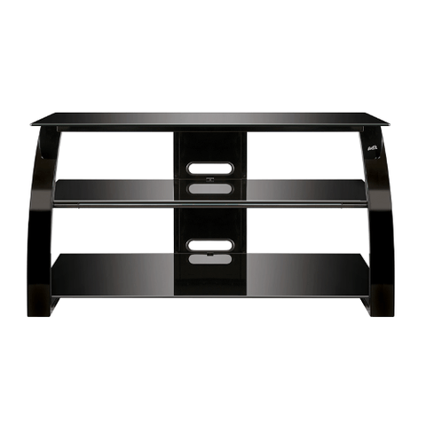 "BELLO 46"" 3-Shelf Black Glass Stand (PVS25142) - Extreme Electronics"