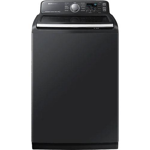 Samsung 6.0 cu.ft. High Efficient Top Load Washer with Super Speed  - Black Stainless Steel (WA52T7650AV/A4) - Extreme Electronics