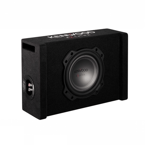 "KENWOOD Excelon 8"" Oversized Subwoofer in Ported Enclosure (PW804B) - Extreme Electronics"