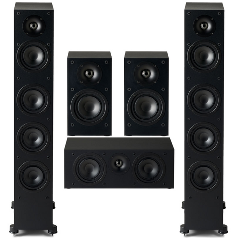 Paradigm Monitor SE 6000F 5.0 channel Speaker Bundle, Black - Extreme Electronics