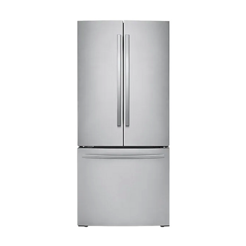 "SAMSUNG 30"" French Door Refrigerator with Digital Inverter Technology, 21.8 Cu. Ft, Stainless Steel (RF220NFTASR/AA)"