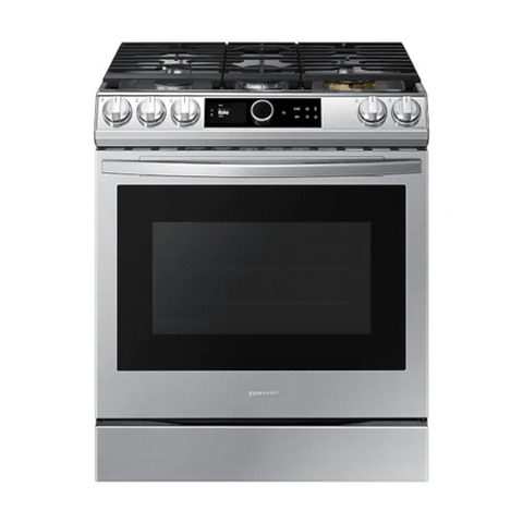 SAMSUNG 6.0 Cu. Ft. Gas Range with 22K Double Burner and Air Fry, Stainless Steel (NX60T8711SS/AA) - Extreme Electronics