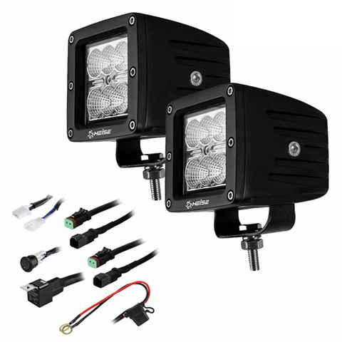 "HEISE Cree 3"" 6 LED Cube 2 Light Kit, Pair (HECL32PK) - Extreme Electronics"