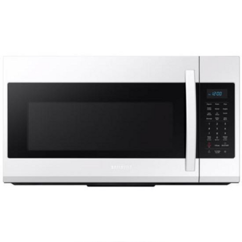 SAMSUNG 1.9 Cu. Ft. Over The Range Microwave Oven with Eco Mode, White (ME19R7041FW/AC) - Extreme Electronics