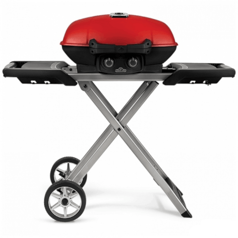 NAPOLEON Travel Q 285X Portable Propane Grill With Scissor Cart and Griddle, Red (TQ285XRD1A) - Extreme Electronics