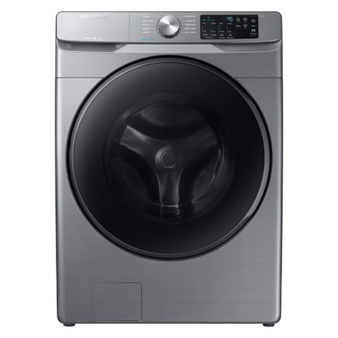 Samsung 4.5 cu. ft. High-Efficiency Platinum Front Load Washing Machine with Steam (WF45R6100AP/US) - Extreme Electronics