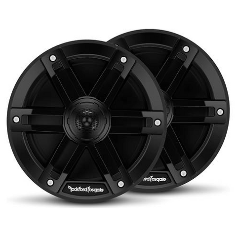 "ROCKFORD FOSGATE M0 Series 6 1/2"" 2-Way Marine Speakers Black, Pair (M0-65B) - Extreme Electronics"