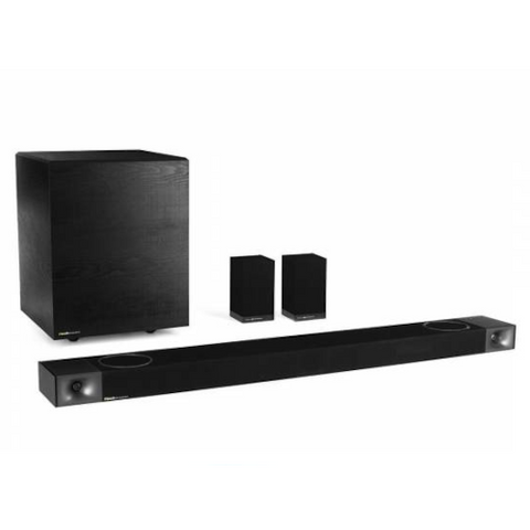 KLIPSCH SoundBbar with Wireless Subwoofer, Wireless Surround Speakers, and Dolby Atmos (CINEMA1200)