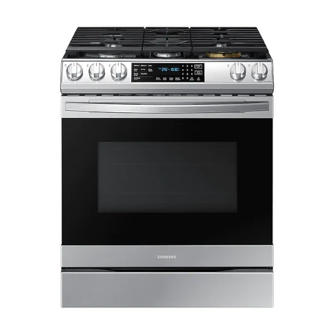 SAMSUNG 6.0 Cu. Ft. Gas Range with True Convection and Air Fry, Stainless Steel (NX60T8511SS/AA) - Extreme Electronics
