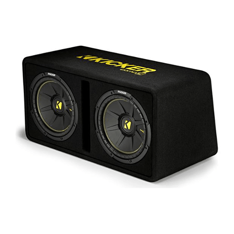 "KICKER CompC Series Ported Enclosure With Dual 10"" Subwoofers (44DCWC102) - Extreme Electronics"