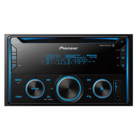 Pioneer Double DIN CD Bluetooth Receiver with Smart Sync and MIXTRAX (FHS520BT)