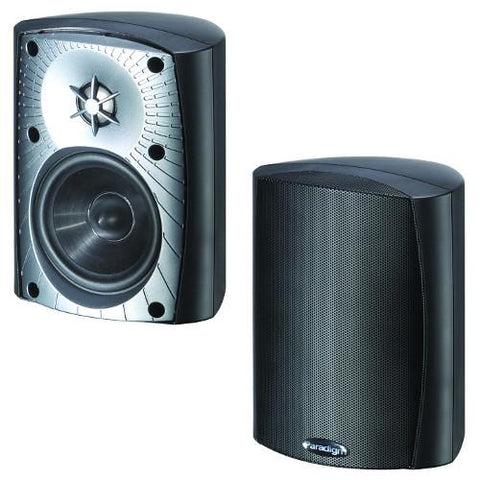 "PARADIGM Black 2-Way 5 1/2"" Acoustic Outdoor Speakers, Pair (STYLUS270BLACK) - Extreme Electronics"