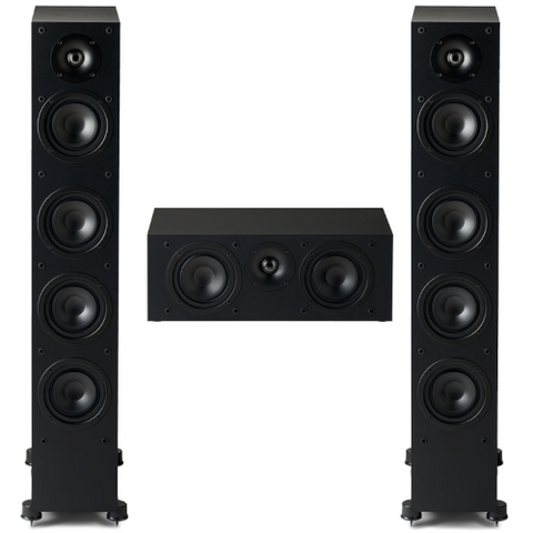 Paradigm Monitor SE 3.0 channel Speaker Bundle, Black - Extreme Electronics