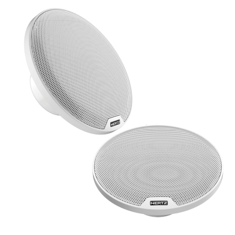 "HERTZ 6 1/2"" White Marine 2 WAY Coaxial Speakers, pair (HEX65CLW) - Extreme Electronics"