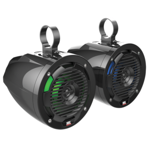 "MTX Audio 6.5"" 50W RMS 4Ω Cage Mount Coaxial Speakers with RGB LED, PAIR (MUD65PL)"