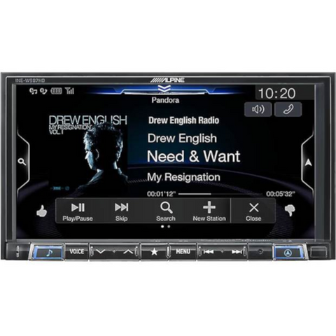 "Alpine 7"" Digital Media Navigation Receiver, DOES NOT PLAY CDs (INEW987HD) - Extreme Electronics"