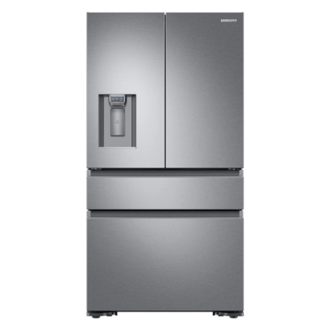 Samsung 23 cu. ft. Counter Depth 4-Door French Door Refrigerator-Stainless Steel (RF23M8070SR/AA) - Extreme Electronics