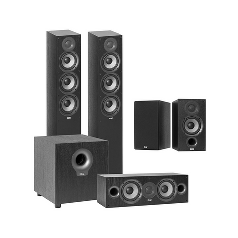 "ELAC Debut 2.0 5-1/4"" 5.1 Home Theater Speaker System (DBHT51T) - Extreme Electronics"