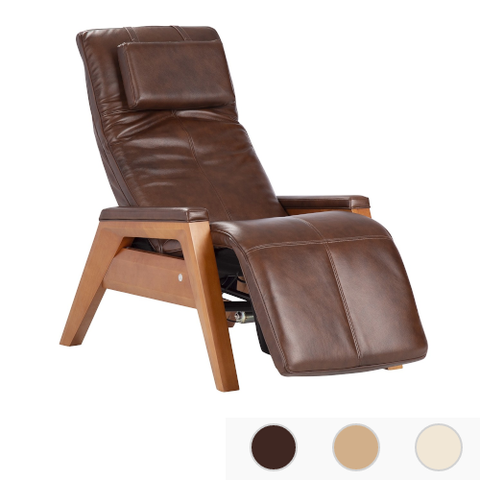HUMAN TOUCH Gravis ZG Massage Chair With Premium Leather Pad, Beech Base - Extreme Electronics