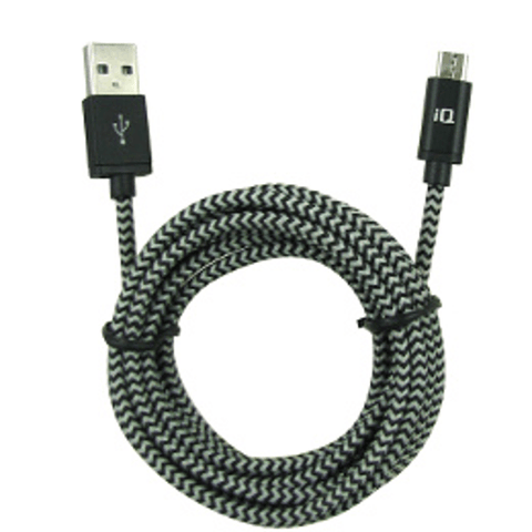 IQ CHARGE & SYNC MICROUSB CABLE 7.5FEET/2.3M - Extreme Electronics - The Best for Less! Brandon, Manitoba