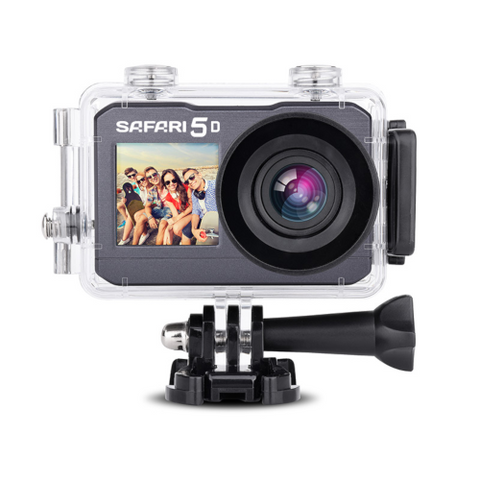 "SAFARI 5 4K Waterproof 30 FPS WiFi 2"" Screen Action Camera Kit (SAFARI5D) - Extreme Electronics"