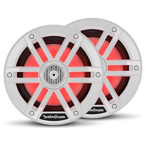 "Rockford Fosgate M1 Series 6"" Color-Optix™ marine speakers- White, PAIR (M1-6) - Extreme Electronics"