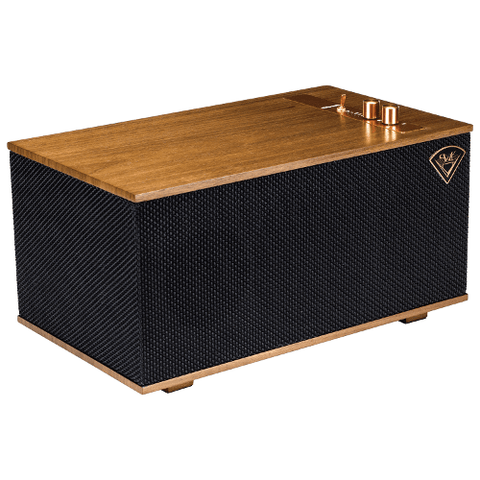 KLIPSCH The Three Heritage Play FI Wireless Bluetooth Speaker With Google Voice, Walnut  (THETHREEWG) - Extreme Electronics