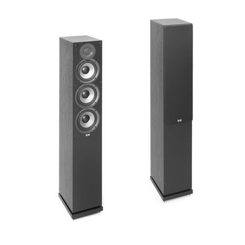 "ELAC Debut 2.0 5 1/4"" Floor Standing Speakers, Pair (DF52BK) - Extreme Electronics"