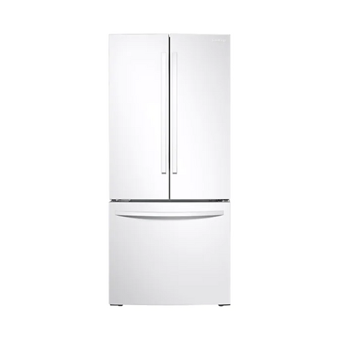 "SAMSUNG 30"" French Door Refrigerator with Digital Inverter Technology, 21.8 Cu. Ft, White (RF220NFTAWW/AA) - Extreme Electronics"