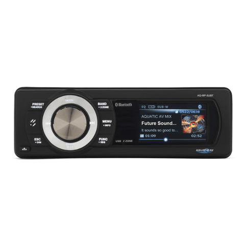 AQUATIC AV Bluetooth & USB Waterproof Marine Stereo (AQMP5UBTS) - Extreme Electronics