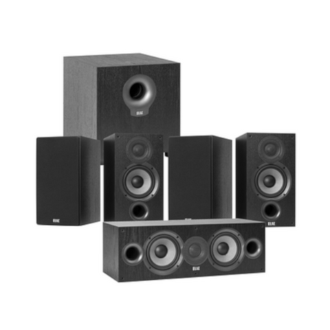 "ELAC Debut 2.0 5-1/4"" 5.1 Home Theater Bookshelf Speaker System  (DBHT51B) - Extreme Electronics"