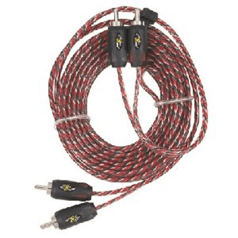 STINGER 9 Ft. 2 Channel PRO3 Series Interconnect Cable - Extreme Electronics