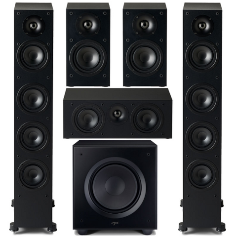 Paradigm Monitor SE 6000F 5.1 channel Speaker Bundle, Black - Extreme Electronics