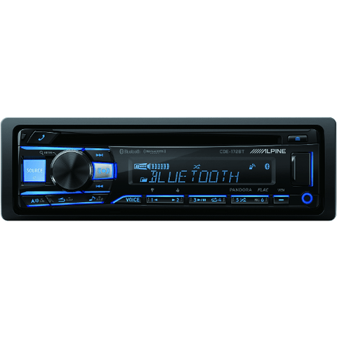 ALPINE Bluetooth Receiver with iPhone/iPod Control, USB and Aux (CDE172BT)