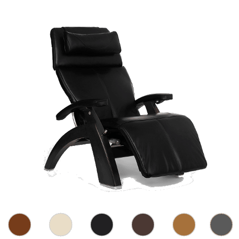 Human Touch Perfect Chair 610 with Premium Leather Pad and Omni Motion Classic Dark Walnut Base