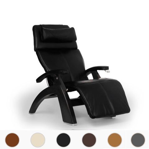 Human Touch Perfect Chair 420 Classic Manual Plus with Premium Leather Pad and Dark Walnut Base - Extreme Electronics