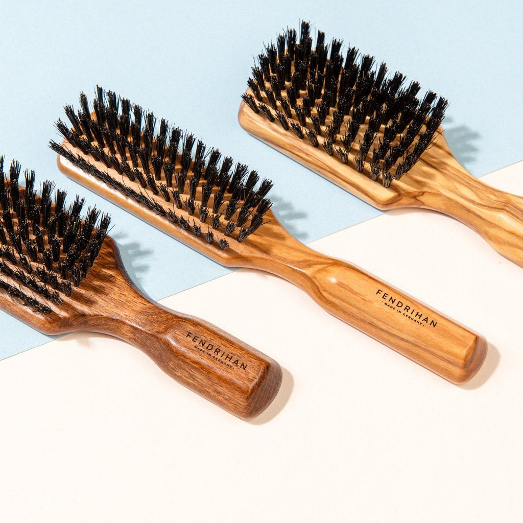 5 Row Olivewood Hairbrush with Boar Bristles - Made in Germany Hair Brush Fendrihan