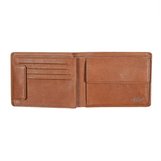 Golden Head Como Billfold Leather Wallet with Coin Pouch and 8 CC Slots, Cognac Leather Wallet Golden Head