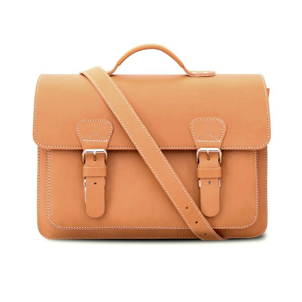 Ruitertassen Classic 2140 Leather Briefcase, Tan - Fendrihan - 6