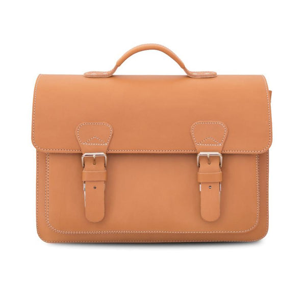 Ruitertassen Classic 2140 Leather Briefcase, Tan - Fendrihan - 2