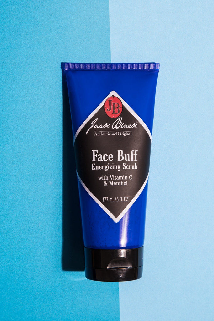 Jack Black Face Buff Energizing Scrub, 6 oz Men's Grooming Cream Jack Black