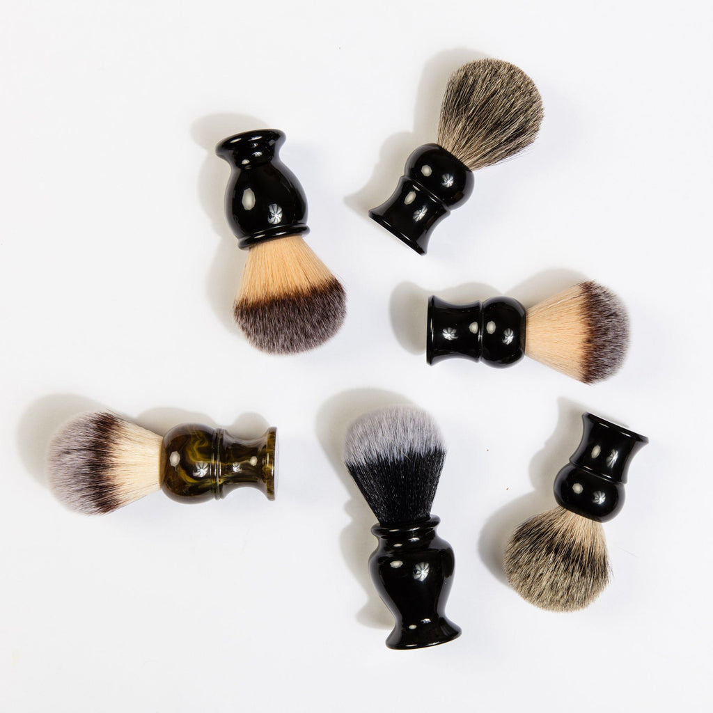 Fendrihan Synthetic Bristles Shaving Brush, Black Handle