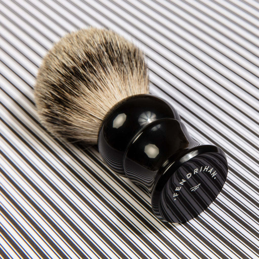 Fendrihan Best Badger Shaving Brush, Black Handle Badger Bristles Shaving Brush Fendrihan