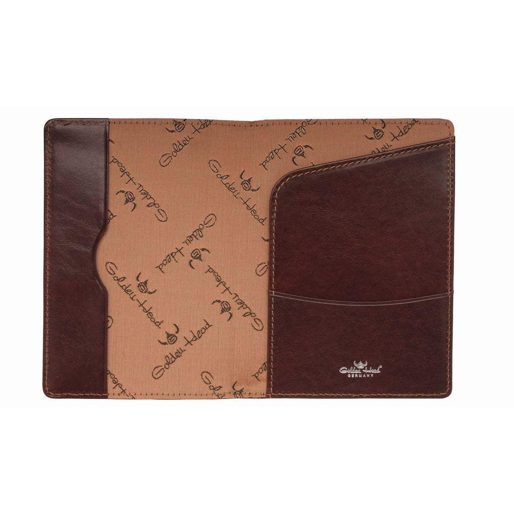 Golden Head Colorado Eco-Tanned Passport Case, RFID Protect Leather Wallet Golden Head Tobacco