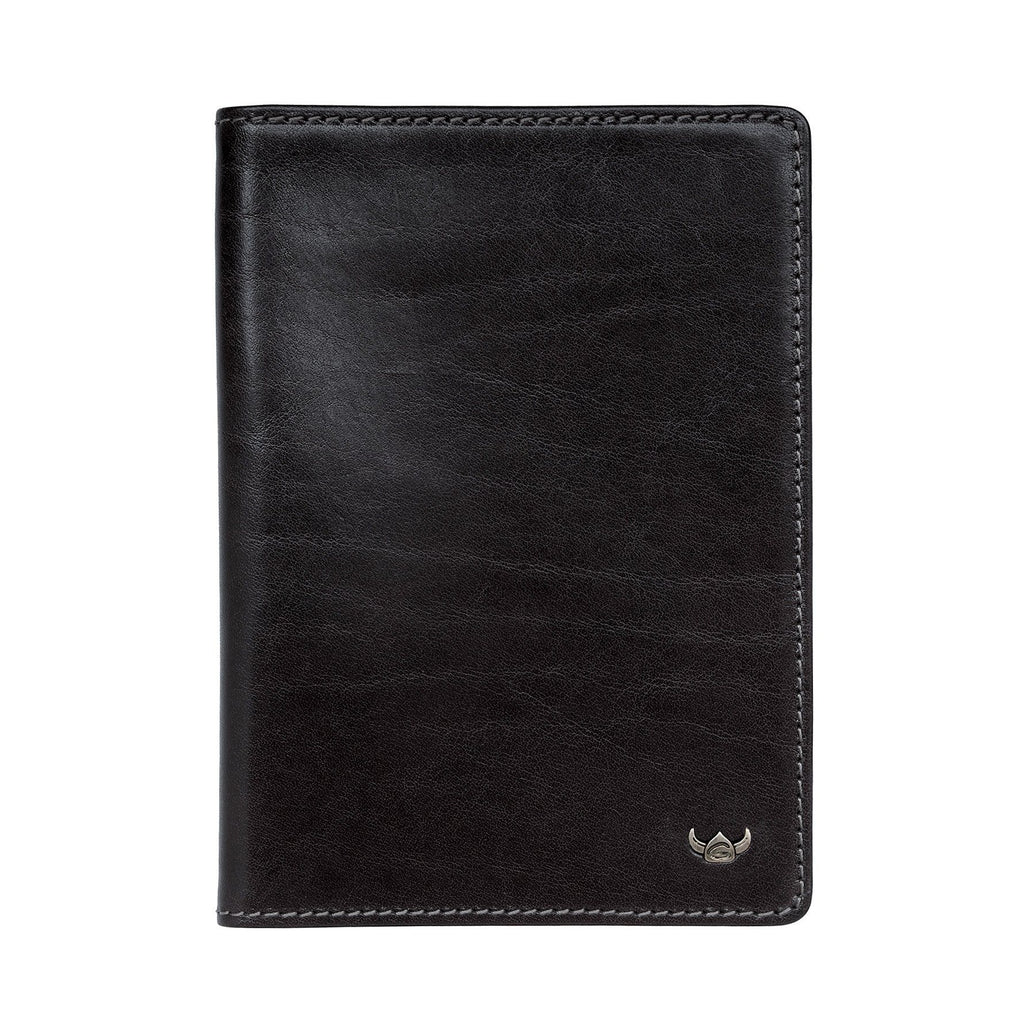 Golden Head Colorado Eco-Tanned Passport Case, RFID Protect Leather Wallet Golden Head