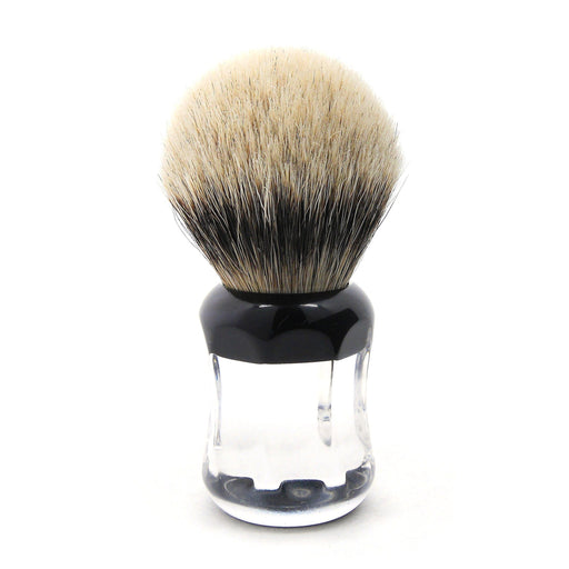 H.L. Thater 49125 Series Silvertip Shaving Brush with Two-Tone Handle, Size 3