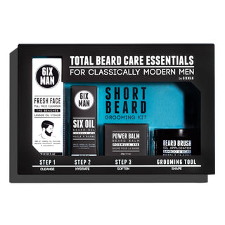 6IXMAN Beard Grooming Kit, The Essentials Beard and Moustache Grooming 6IXMAN Brush