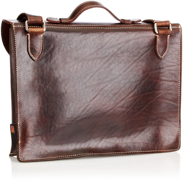 Jost Bronx Leather Briefcase, Cognac - Fendrihan