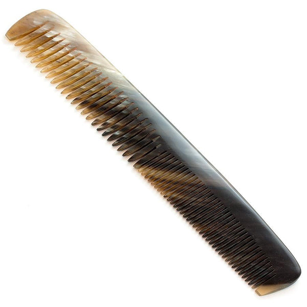 Abbeyhorn Ox Horn Double-Tooth 185mm Large Comb - Fendrihan - 3