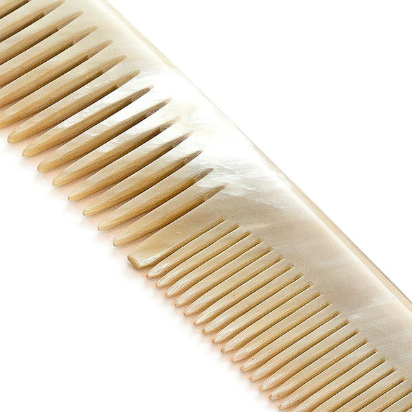 Abbeyhorn Ox Horn Double-Tooth 185mm Large Comb - Fendrihan - 2